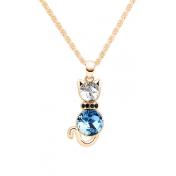 Yparah Chat Deluxe Blue Necklace - Swarovski's Crystals