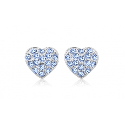 Earrings Couronne Pink Yparah - Swarovski's crystals